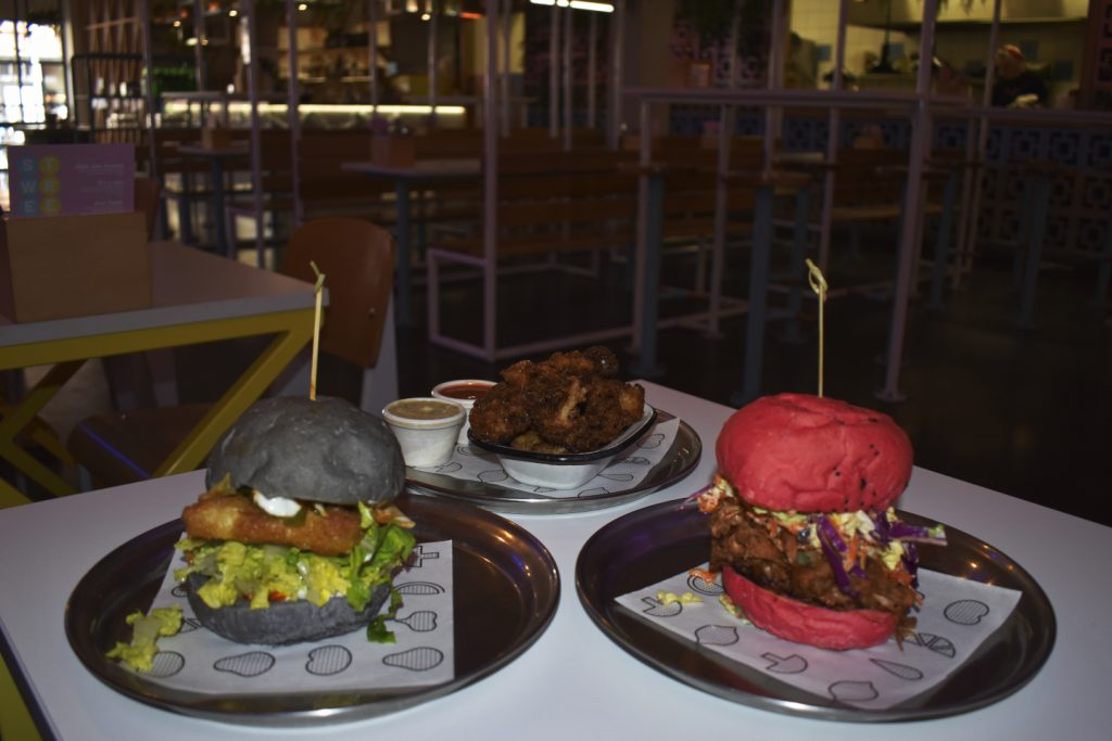 Delicious Burgers and Cauliflower Wings at the Veg Bar