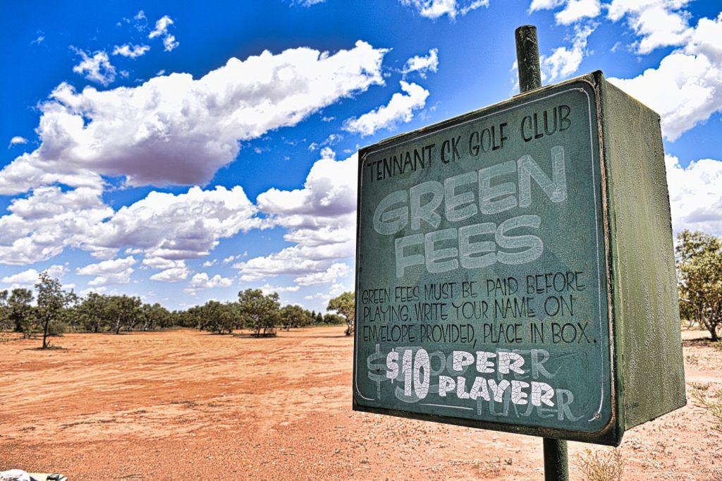 Honesty Box at Tennant Creek Golf Club
