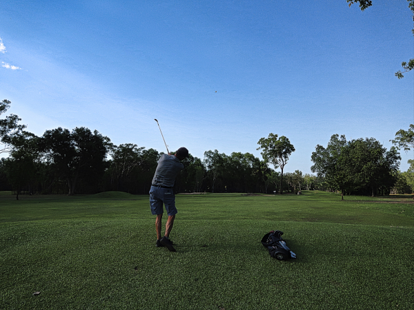 Opening approach shot at Humpty Doo and Rural Area Golf Club