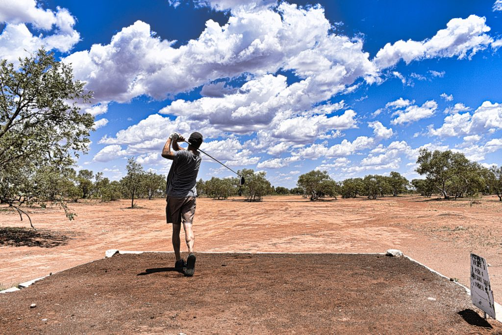 Opening hole at Tennant Creek Golf Club