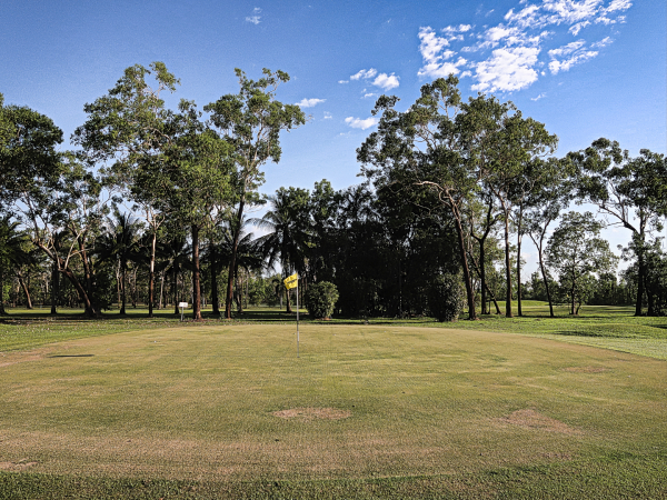 The 4th green at Humpty Doo and Rural Area Golf Club