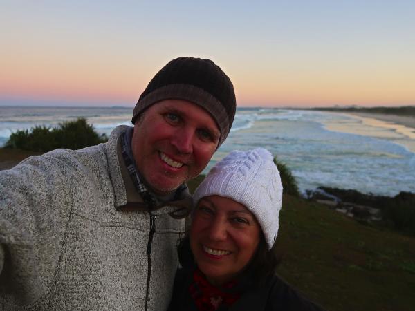 Enjoying time at Hastings Point