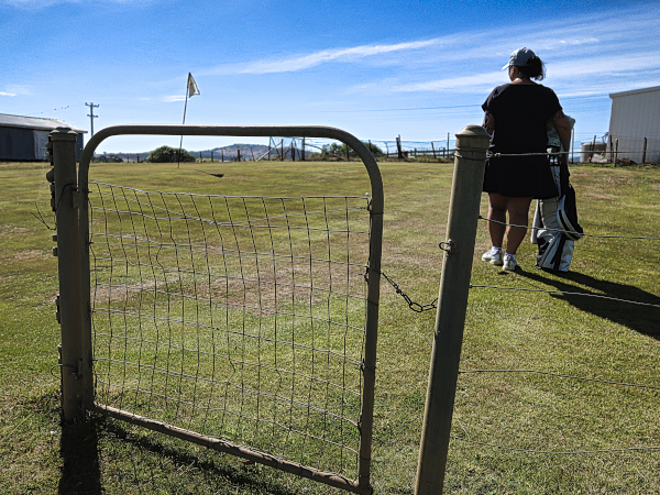 Gateway to second green at Ratho Farm