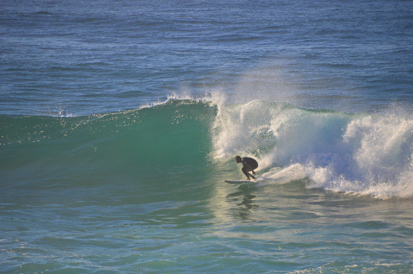 Surfers at Hastings Point