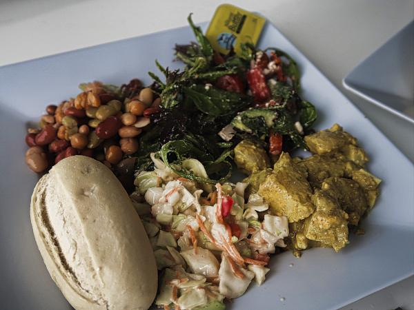 Vegetarian lunch on the Freedom III