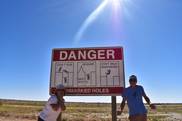 A Typical Sign in Coober Pedy