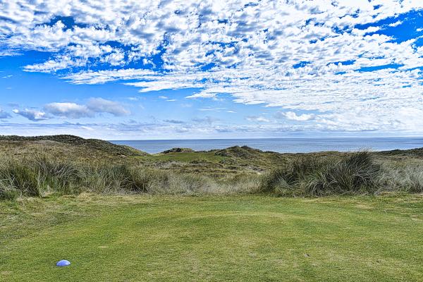 Determine your target on nine at Cape Wickham Golf Links