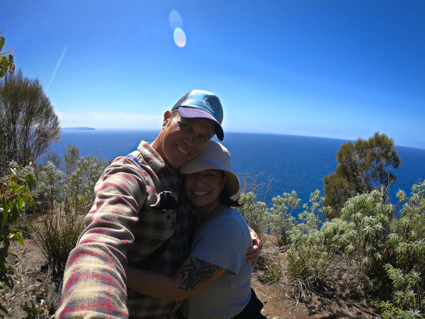 We made it to the Top of the Fluted Cape die Top Highlights auf Bruny Island