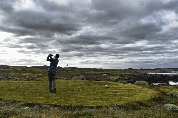 Hoping on Disphyma at Ocean Dunes Golf Course