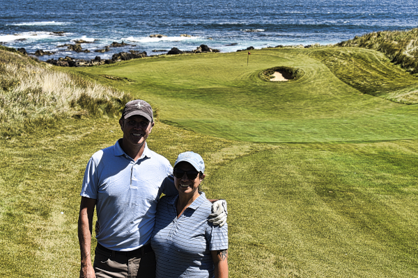 Incredible views on ten at Cape Wickham Golf Links