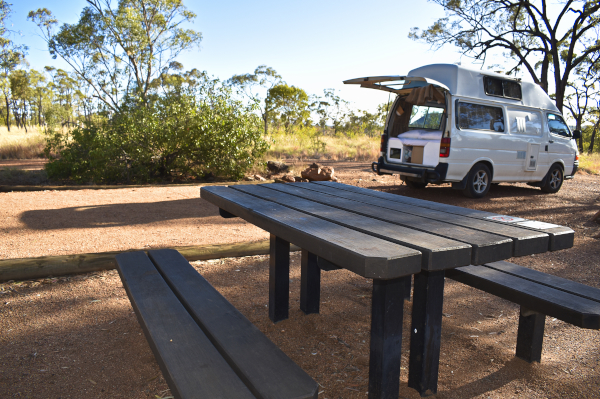 Porcupine Gorge Campground with Picnic Tables on Sites