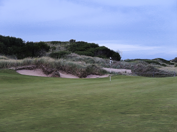 The eighteenth green at Lost Farm