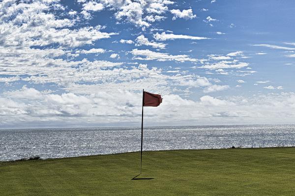 Twelfth green at Cape Wickham Golf Links