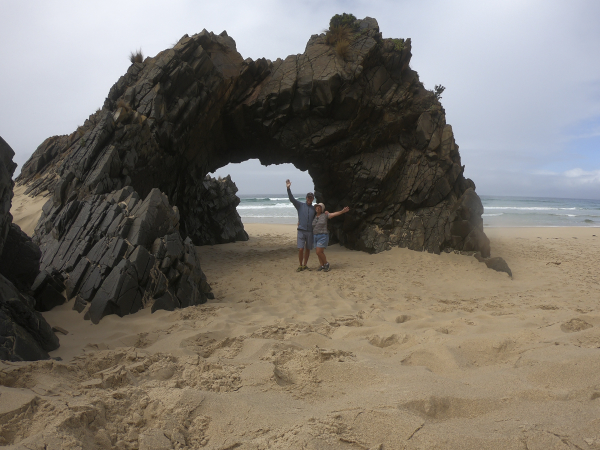 We made it to The Arch on Bruny Island