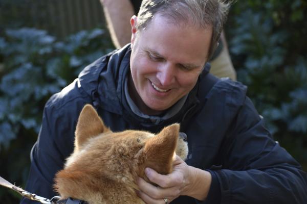 Cuddling with Dingoes at Jirrahlinga