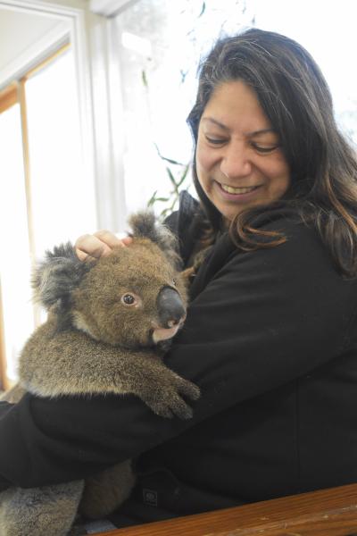 Holding Bo, the Koala Baby - A Dream comes true