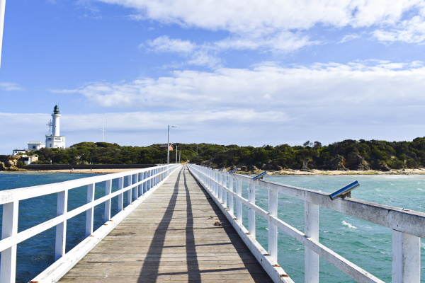 Lighthouse and Jetty at Point Lonsdale