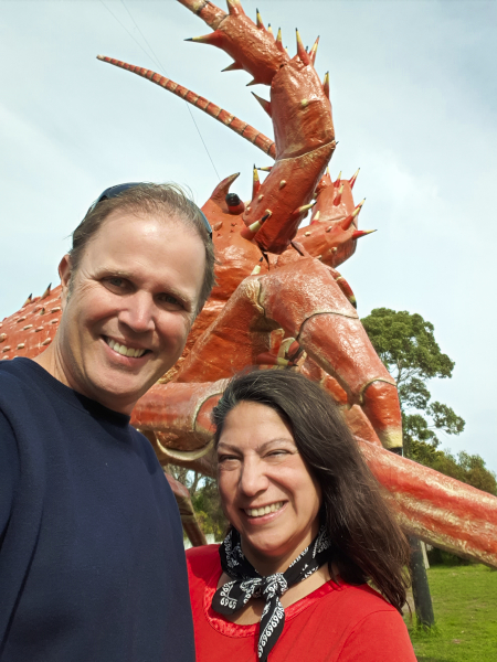 Selfie with Larry the Big Lobster