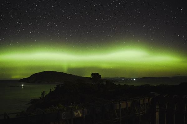 The Aurora Australis in Tasmania