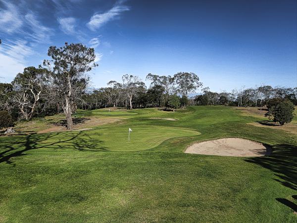 The second green at Tasmania Golf Club