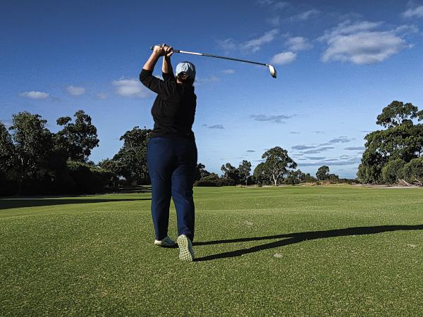 Aim for the goalposts on eleven at Kingston Heath Golf Club