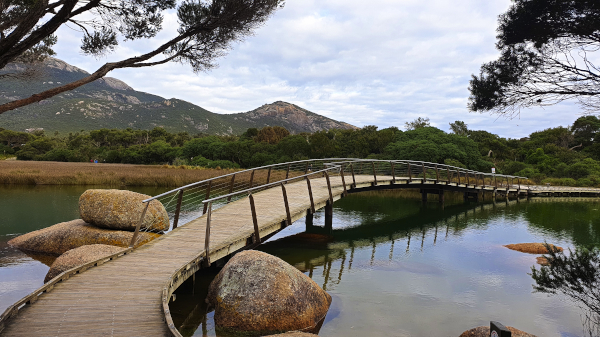 Beautiful Tidal Bridge at Wilsons Promontory National Park
