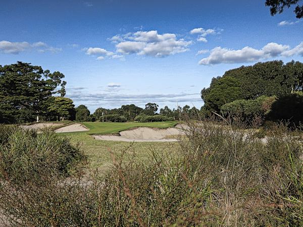 Kite shaped tenth green at Kingston Heath Golf Club
