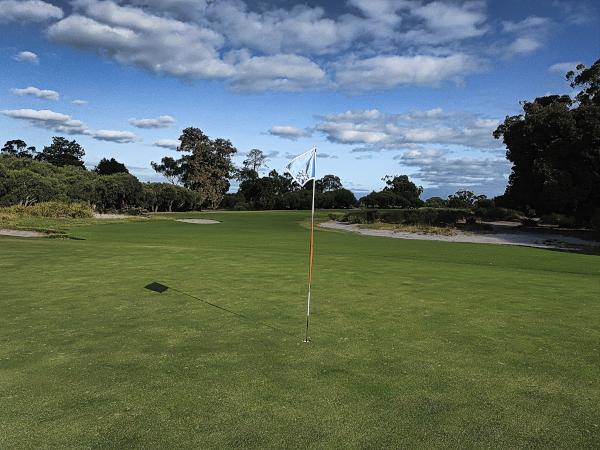Looking back at the fantastic ninth at Kingston Heath Golf Club