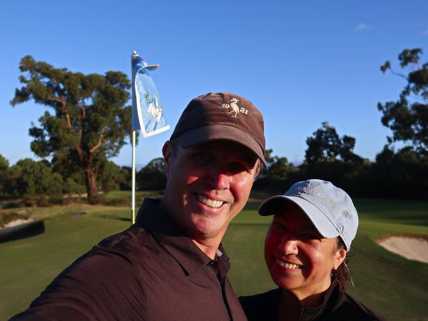 Surviving the fifteenth at Kingston Heath Golf Club