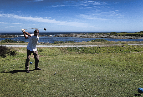 Teed too low on five at King Island Golf and Bowling Club