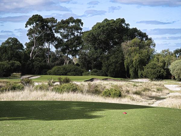The fifth green at Kingston Heath Golf Club