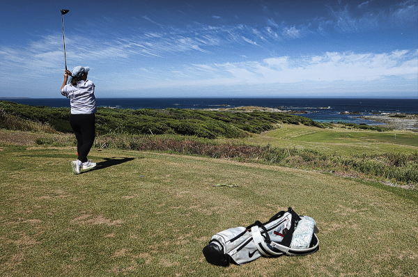 The picturesque third at King Island Golf and Bowling Club