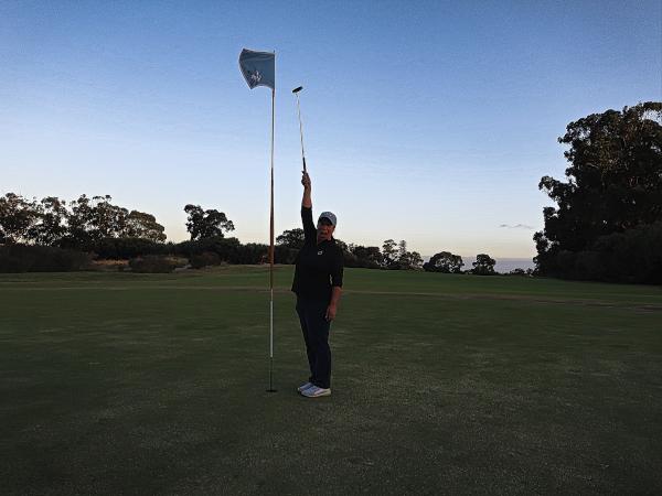 The tall pin on seventeen at Kingston Heath Golf Club
