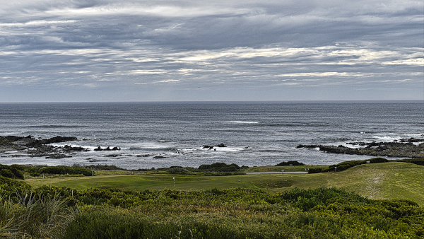 The third hole at King Island Golf and Bowling Club