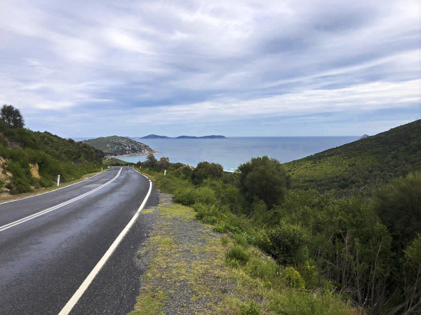 The way in to Wilsons Promontory National Park