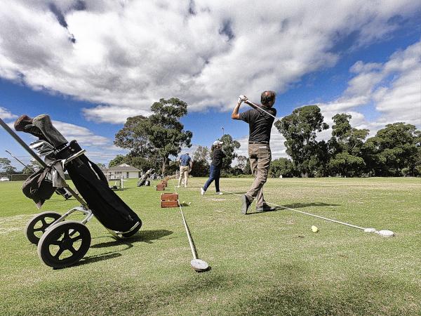 Warming up for Kingston Heath Golf Club
