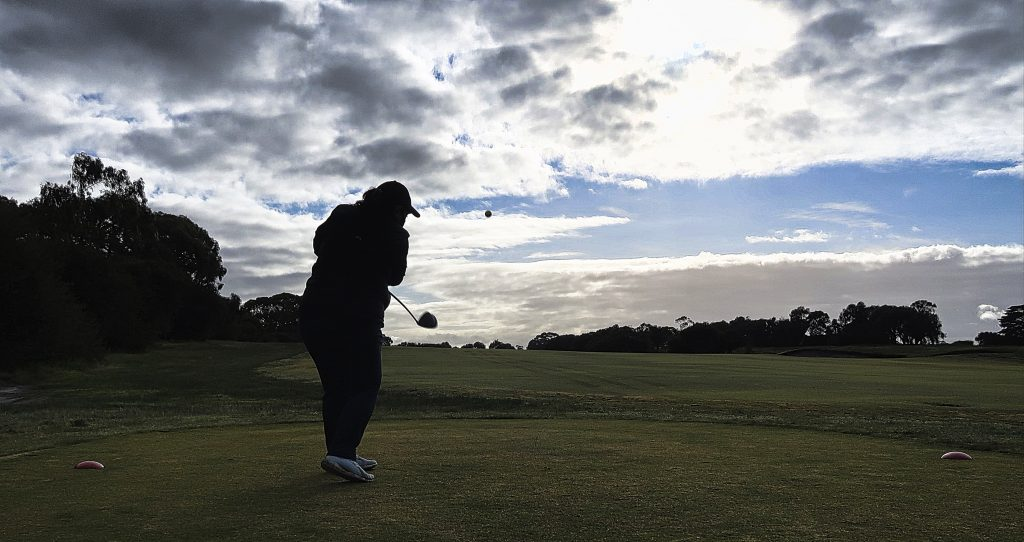 Aim up the right side on nine at Royal Melbourne Golf Club