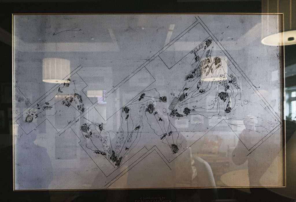 Dr Mackenzie's original drawings of the West Course at Royal Melbourne Golf Club