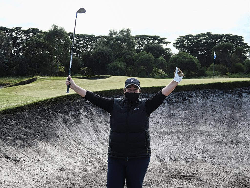 Getting out alive on thirteen at Royal Melbourne Golf Club