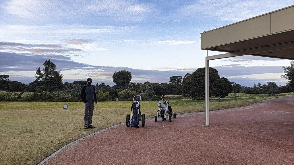Ready to play the West Course at Royal Melbourne Golf Club