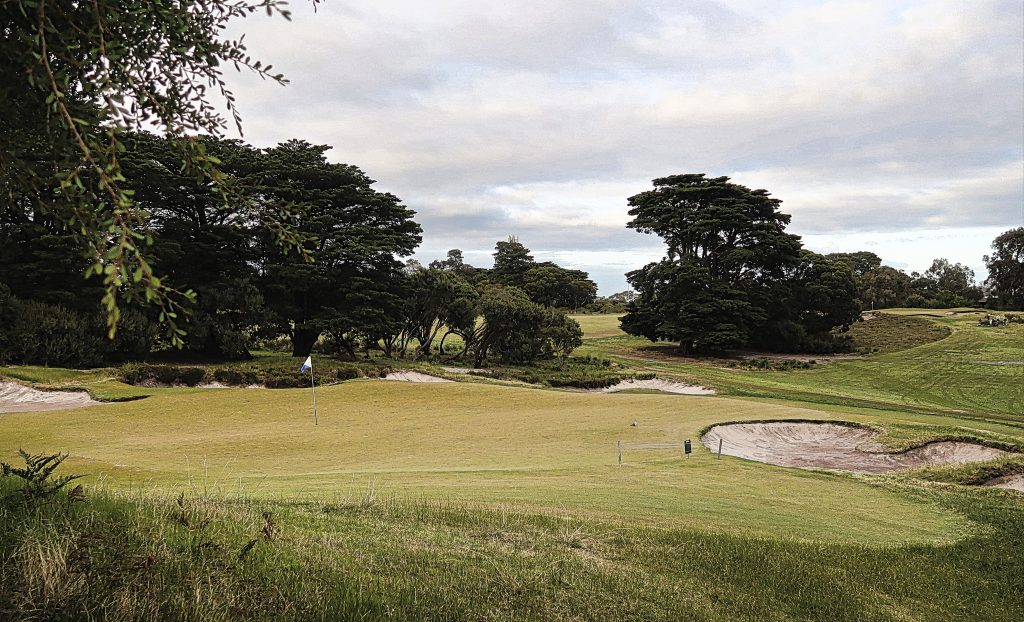 The fifth green at Royal Melbourne Golf Club