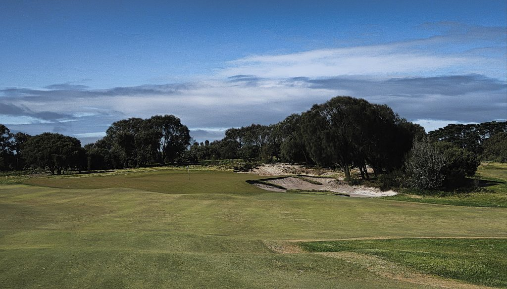 The green on seventeen at Royal Melbourne Golf Club