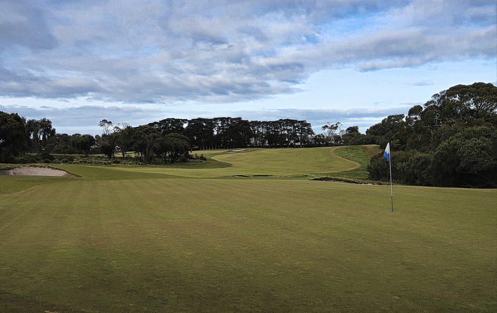 The ninth green at Royal Melbourne Golf Club