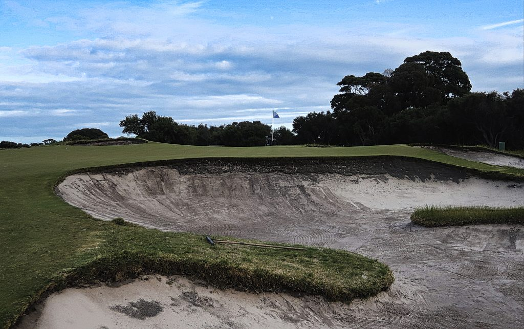 The seventh at Royal Melbourne Golf Club