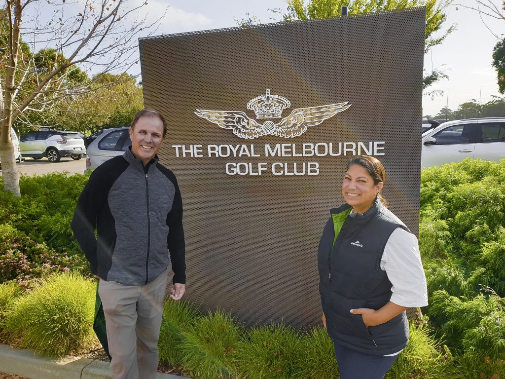 We played Royal Melbourne!